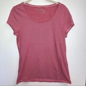 T shirt quick dry cotton blend athletic stripe